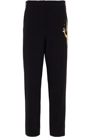 CAMILLA Woman Embellished Stretch-crepe Tapered Pants Size L