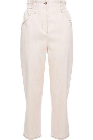 Emilio Pucci Women Trousers - Woman Cropped Linen-blend Straight-leg Pants Blush Size 44