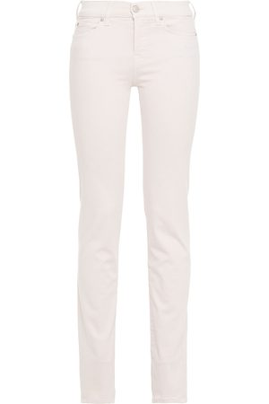7 FOR ALL MANKIND Women Slim - Woman Mid-rise Slim-leg Jeans Pastel Size 27