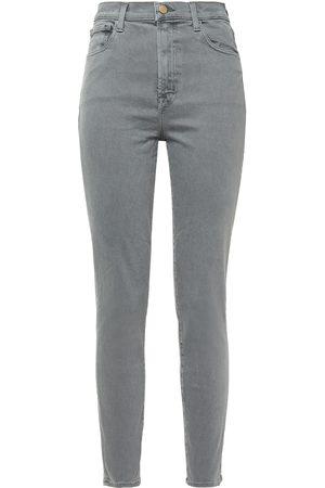 J Brand Woman Leenah High-rise Skinny Jeans Gray Size 25