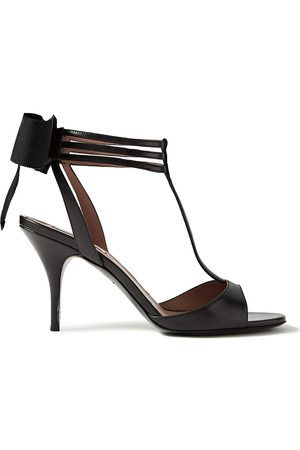 TABITHA SIMMONS Woman Dipsi Bow-embellished Leather Sandals Size 35