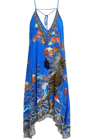 Camilla Woman Crystal-embellished Printed Silk Crepe De Chine Dress Bright Size L