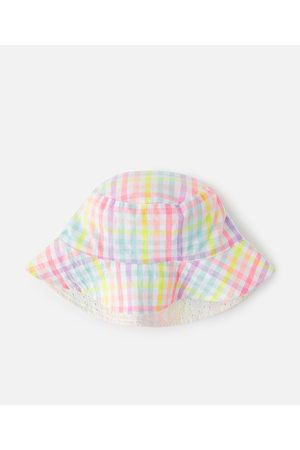 Accessorize Girls Hats - Girls Check Reversible Hat