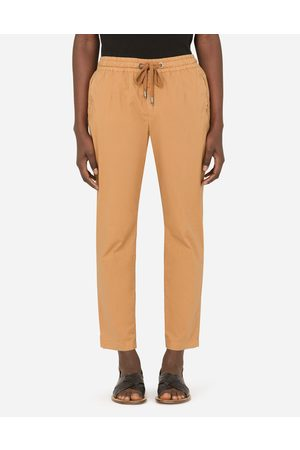 Dolce & Gabbana Men Stretch Trousers - Collection - STRETCH COTTON JOGGING PANTS WITH PATCH male 44