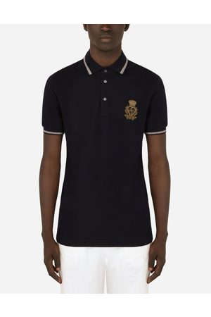 Dolce & Gabbana T-Shirts and Polos - Cotton polo-shirt with DG patch male 44