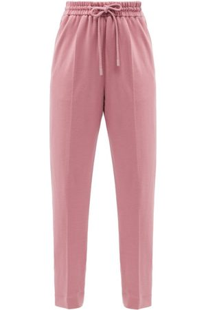 Roksanda Palmira Elasticated-waist Wool-jersey Trousers - Womens