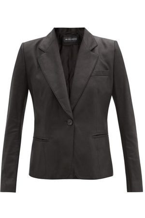 ANN DEMEULEMEESTER Angelina Single-breasted Leather Jacket - Womens