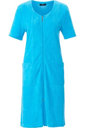 Peter Hahn Lightweight towelling robe short sleeves turquoise size: 12