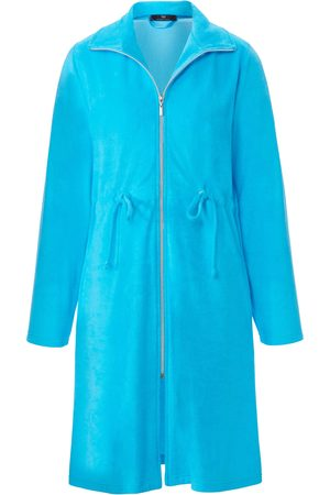 Peter Hahn Lightweight towelling robe long sleeves turquoise size: 10