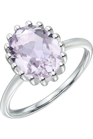 The Love Silver Collection Sterling Pink Amethyst Ring