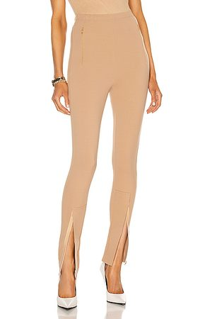 WARDROBE.NYC Front Zip Legging in Camel