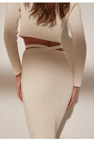 Missguided Re_Styld Rib Knit Midi Skirt
