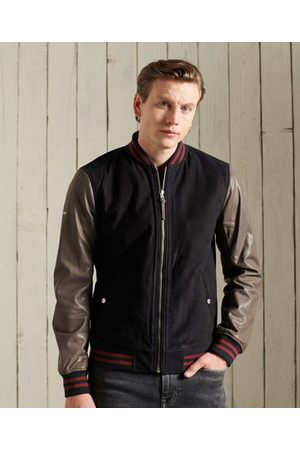 Superdry Men Leather Jackets - Varsity Leather Jacket