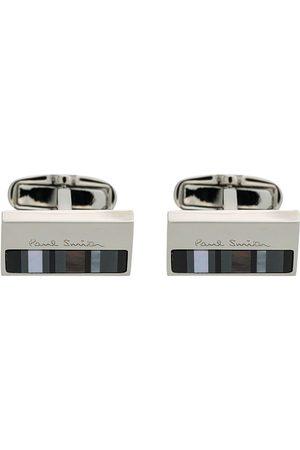 Paul Smith Men Cufflinks - Striped cufflinks - Metallic