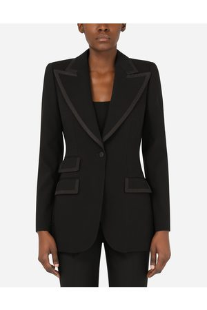 Dolce & Gabbana Blazers - Wool jacket with piping female 40