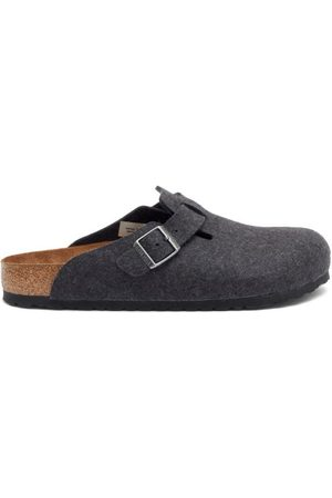 Birkenstock Boston Buckled Wool-felt Sandals - Mens