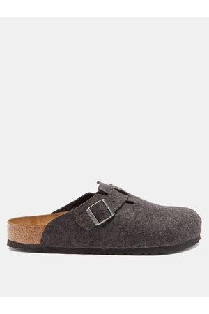 Birkenstock Men Sandals - Boston Buckled Wool-felt Sandals - Mens