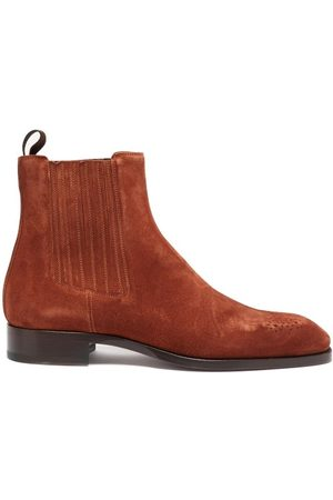 Christian Louboutin Angloman Leather Chelsea Boots - Mens
