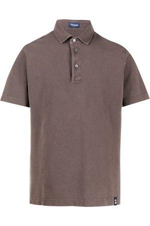 DRUMOHR Men Polo Shirts - Plain short-sleeved polo shirt