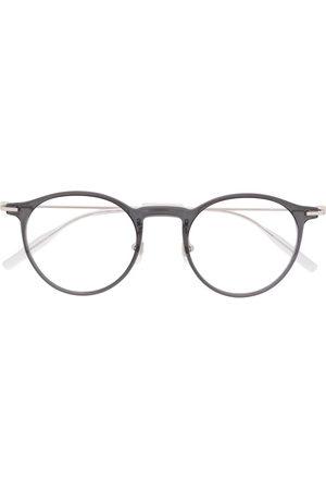 Mont Blanc Polished round-frame glasses