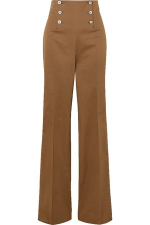 Giuliva Heritage Collection Women Stretch Trousers - Woman The Sailor Stretch-cotton Straight-leg Pants Camel Size 38