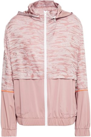 LANSTON SPORT Women Hoodies - Woman Dean Layered Stretch-jacquard And Jersey Hoodie Baby Size L