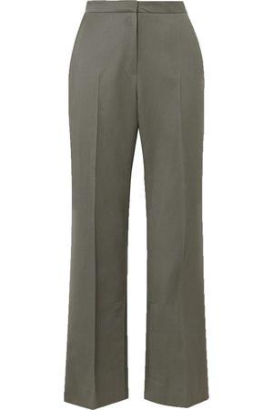 LVIR Women Formal Trousers - Woman Wool-twill Straight-leg Pants Size L