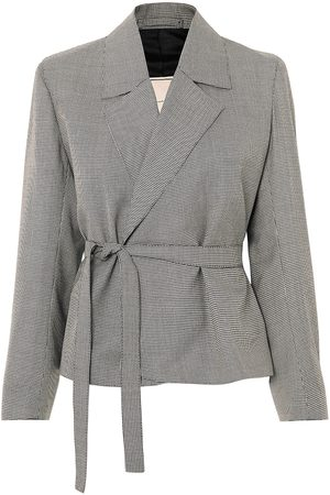 Giuliva Heritage Collection Women Blazers - Woman Lucy Houndstooth Wool Blazer Size 36