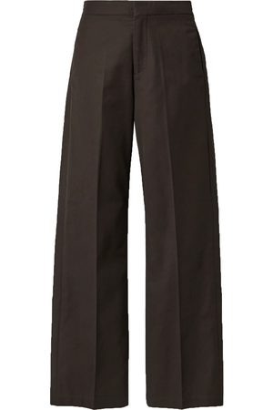 CO Women Trousers - Woman Gabardine Straight-leg Pants Cholate Size M