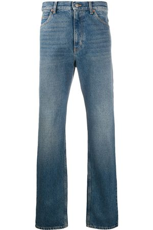 Gucci Washed-effect straight leg jeans