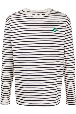 WoodWood Mells striped long sleeved T-shirt - Neutrals