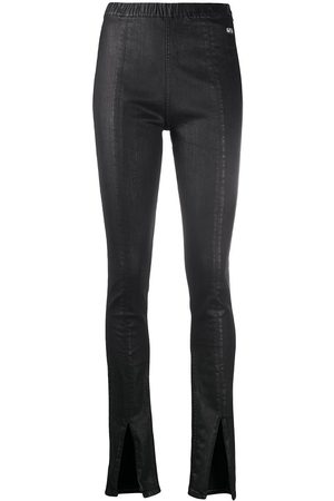 Rick Owens DRKSHDW Women Skinny Trousers - Skinny trousers with slit-flares