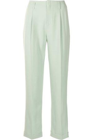 Ports V Pleated straight-leg trousers