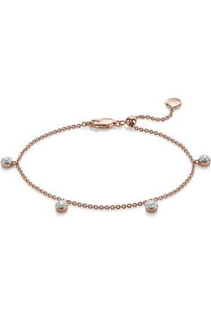 Monica Vinader 18kt rose gold vermeil Fiji Tiny Button diamond bracelet