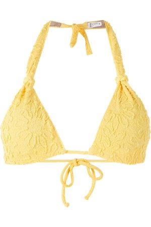 CLUBE BOSSA Rings jacquard bikini top