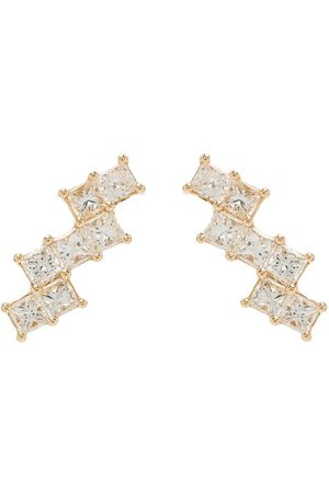 Dana Rebecca Designs 14kt yellow Millie Ryan diamond stair step diamond earrings