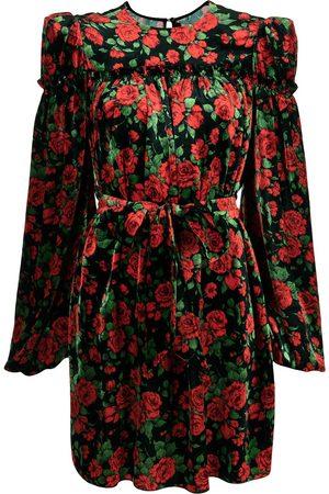 The Vampire's Wife Women Printed Dresses - Rose-print velvet dress