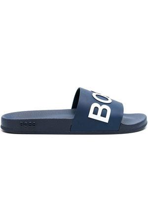 BOSS Men Sandals - Logo-print Bay slides