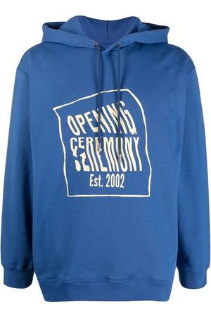 Opening Ceremony Men Sweatshirts - Warped-logo cotton hoodie