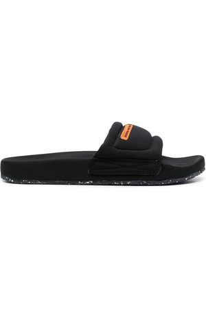 Heron Preston Men Sandals - Logo patch flat slides