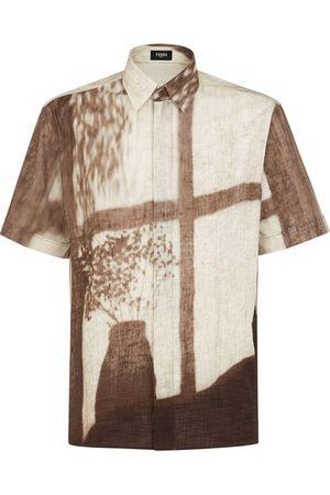 Fendi Men Short Sleeve - Shady Window print shirt - Neutrals