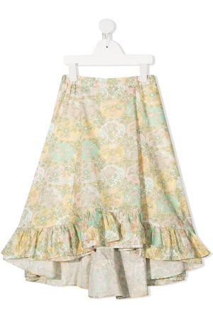 Bonpoint Floral-print ruffle skirt