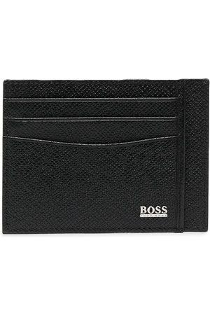 HUGO BOSS Logo-print leather cardholder