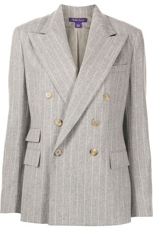 Ralph Lauren Astor double-breasted blazer - PEARL MELANGE