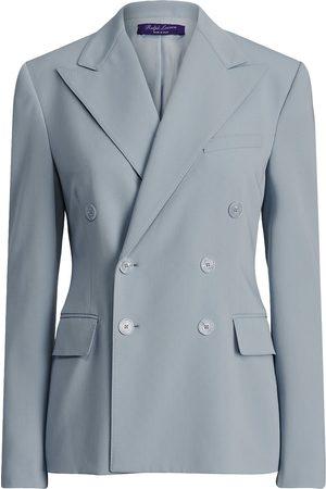 Ralph Lauren Women Blazers - Peak-lapel double-breasted blazer