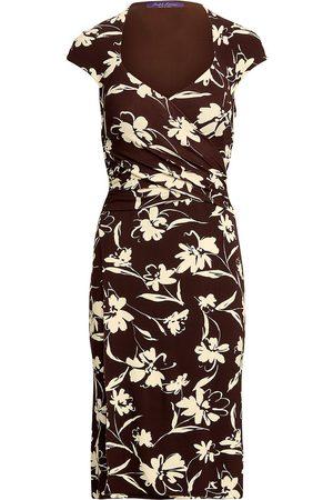 Ralph Lauren Floral-print sweetheart-neck dress