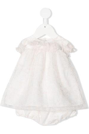 LA STUPENDERIA Baby Printed Dresses - Floral lace dress set