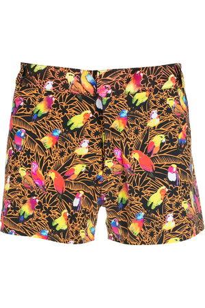 AMIR SLAMA Men Swim Shorts - Print Papagaios shorts