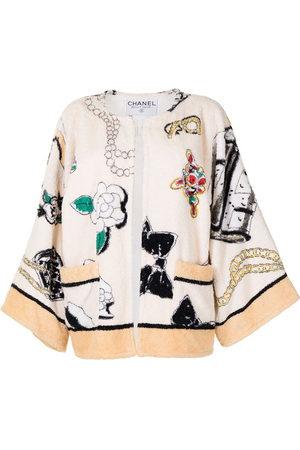 CHANEL 1995 motif print bathrobe-style jacket
