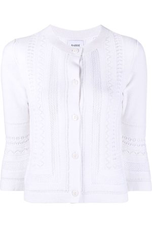 Barrie Women Cardigans - Cropped sleeve round neck cardigan